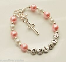 Personalised Girls First Holy Communion gift christening present brace