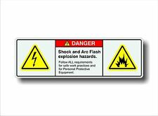 Electrical Safety Decal Sticker SHOCK & ARC FLASH EXPLOSION warning label
