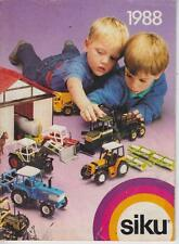 SIKU DIE-CAST MODEL VEHICLES PRODUCT RANGE CATALOGUE ( 1988 EDITION )