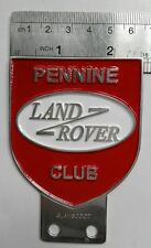 VINTAGE LAND ROVER CAR badge DEFENDER FOR SALE CLASSIC series 1 2 3 a PENNINE