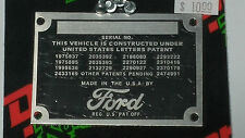 FORD DATA,PLATE
