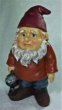 26cm Grumpier Garden Gnome Statue Figurine 9319844340366 GNOMEG - G Polyresin
