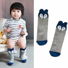 Cute Baby Toddler Girls Boys Fox Leggings Leg Warmers Knee Long Socks 0-2 years