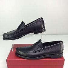 Salvatore Ferragamo Maxwell 0617546 Black Loafer Slip On 9 D Nero Pebble Calf