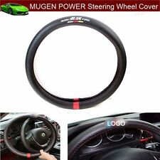 1pcs MUGEN POWER Carbon fiber Car Steering Wheel Cover Size 38cm Free shipping