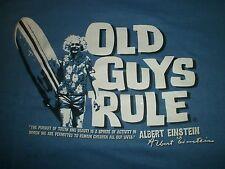 """OLD GUYS RULE EINSTEIN """" SURFSTEIN """" SURF SURBOARD LONGBOARD FIN BEACH S/S 3X"""