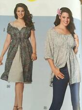 Burda Sewing Pattern 6950 Misses Plus Size Dress Blouse Size 16-26 New