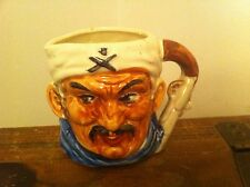 vintage molded ceramic creamer cup Jolly Roger Made In Japan Hand Painted detail