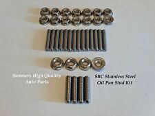 Small Block Chevy 283 305 327 350 400 STAINLESS STEEL OIL PAN STUD KIT S/S Bolts