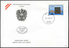 Austria 1986 Telephone System FDC First Day Cover #C18965