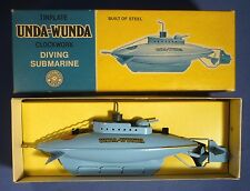 Sutcliffe unda Wunda U-Boot movimento dell'orologio OVP VINTAGE TIN WIND UP TOY Submarine a168