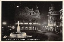 BR72471 genova piazza de ferari fontana luminosa real photo italy