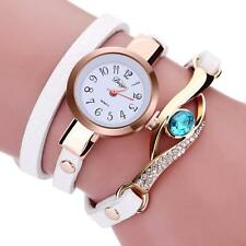 Fashion Women Quartz Ladies Stainless Steel Crystal Diamond Bracelet Wrist Watch
