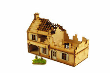 WW2 LARGE FARMHOUSE DESTROYED 15mm Building Terrain Flames of War N520