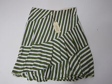 Skirt Women Tania Max Studio Specialty Products Knit Stretch Green Stripe XS $68