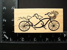Bike For Two By Great Impressions Love Valentine's Day Hearts Rubber Stamp #26A