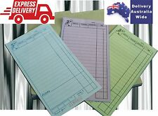 100 Large Restaurant Docket Books TRIPLICATE Carbonless 50 sets Fast Delivery