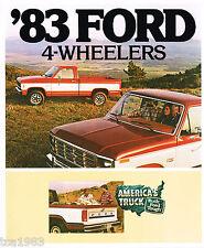 1983 Ford 4-WHEEL DRIVE Truck Brochure :PickUp,HD,F150,350,RANGER,Series,4x4,XLT