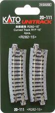 """Kato 20-111 N Unitrack 11"""" Radius 15 deg Curve 4pcs"""