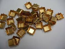 20 square 4-prong settings for 14mm #4410(4447),polished brass