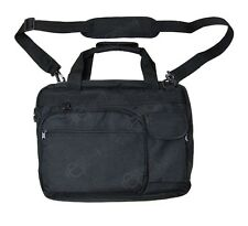 Black LAPTOP BAG with Padded Case - Shoulder Strap Practical Military Style Case