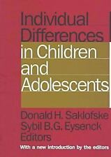 Individual Differences in Children and Adolescents