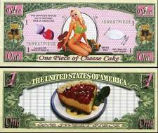 CHEESECAKE BILLET 1 DOLLAR US ! PIN UP Collection Cheese-Cake Gateau au Fromage