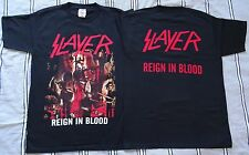 OFFICIAL SLAYER ,,Reign In Blood,, T-shirt Black Sizes M L XL,,Angel Of Death,,
