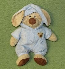 Ty Baby PLUFFIES Teddy Bear Blue Pajamas Bunny Rabbit Ears Plush Stuffed 2007