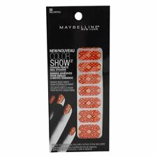 Maybelline Limited Edition Color Show Fashion Prints Nail Stickers, 18 Stickers