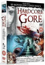 HARDCORE GORE THE ULTIMATE HORROR FILMS COLLECTION NEW 10 MOVIES 3 DVD R4 BOXSET