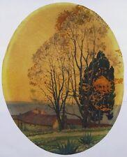 Tony Georges ROUX (1894-1928)  GRASSE Les Cyprès de la Ravinière - Dessin ancien