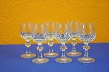 Kristall Gläser Nachtmann Alexandra 6 Sherry Gläser Cut Crystal 6x Liqueur glass