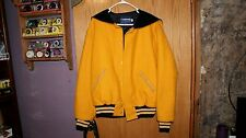 Holloway 100% wool Varsity Letterman Jackets with Sailor Collar never worn. Gold