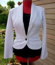 Just Cavalli White designer Jacket UK 12 Turtle Buttons