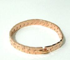 Rose Gold Bracelet Linked Etched Design 9k 8in Womrns Mens Girl Boy