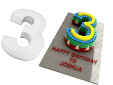 "14"" 3 NUMBER BIRTHDAY ANIVERSARY CAKE TIN 3"" DEEP"