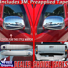 2009-2011 Toyota Tacoma 2-DR Chrome Door Handle Covers + Mirror +Tailgate Covers