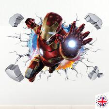 3D Ironman Vinilo artístico para pared hogar Dormitorio cartel de Marvel Thor De Vengadores Hulk