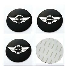 4x Stickers Mini Cooper Wing 56mm Centre Hub Wheel Cap Emblem Sticker, UK Stock