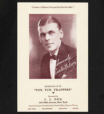 1930 Radio Show Ad The Fox Fur Trappers with Earle Nelson I.J. Fox Furrier Spons