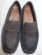 Men's DISTRESSED Grey Leather 'Ecco' Loafer Shoe Size 41