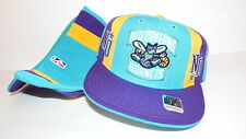 NEW HAT CAP FITTED REEBOK NBA NEW ORLEANS HORNETS SIZE 7 GREEN YELLOW PURPLE