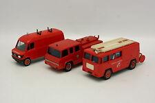 Solido 1/50 - Lot de 3 Pompiers Berliet Mercedes