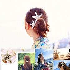 Vogue Women Girls Natural Starfish Summer Beach Star Hair Clip Hairpin Barrette