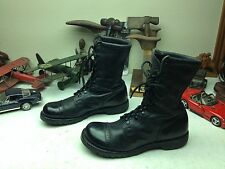 CORCORAN MILITARY USA BLACK LEATHER RED TAG ENGINEER BOSS ARMY JUMP BOOTS 11.5 D