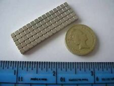 "75 of 1/8"" N42 Cube Magnets NdFeB / Neodymium"