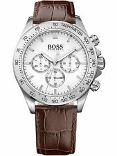NEW HUGO BOSS 1513175 MENS STAINLESS STEEL CHRONOGRAPH WATCH - 2 YEAR WARRANTY
