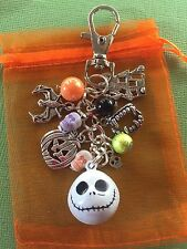 JACK NIGHTMARE BEFORE CHRISTMAS HALLOWEEN GIFT  HANDBAG CHARM KEYRING  Bag GOTH