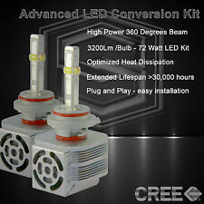 360 Degree Beam - New Gen CREE LED 6400LM Head Light Kit 6k 6000k - 9005 HB3 (B)